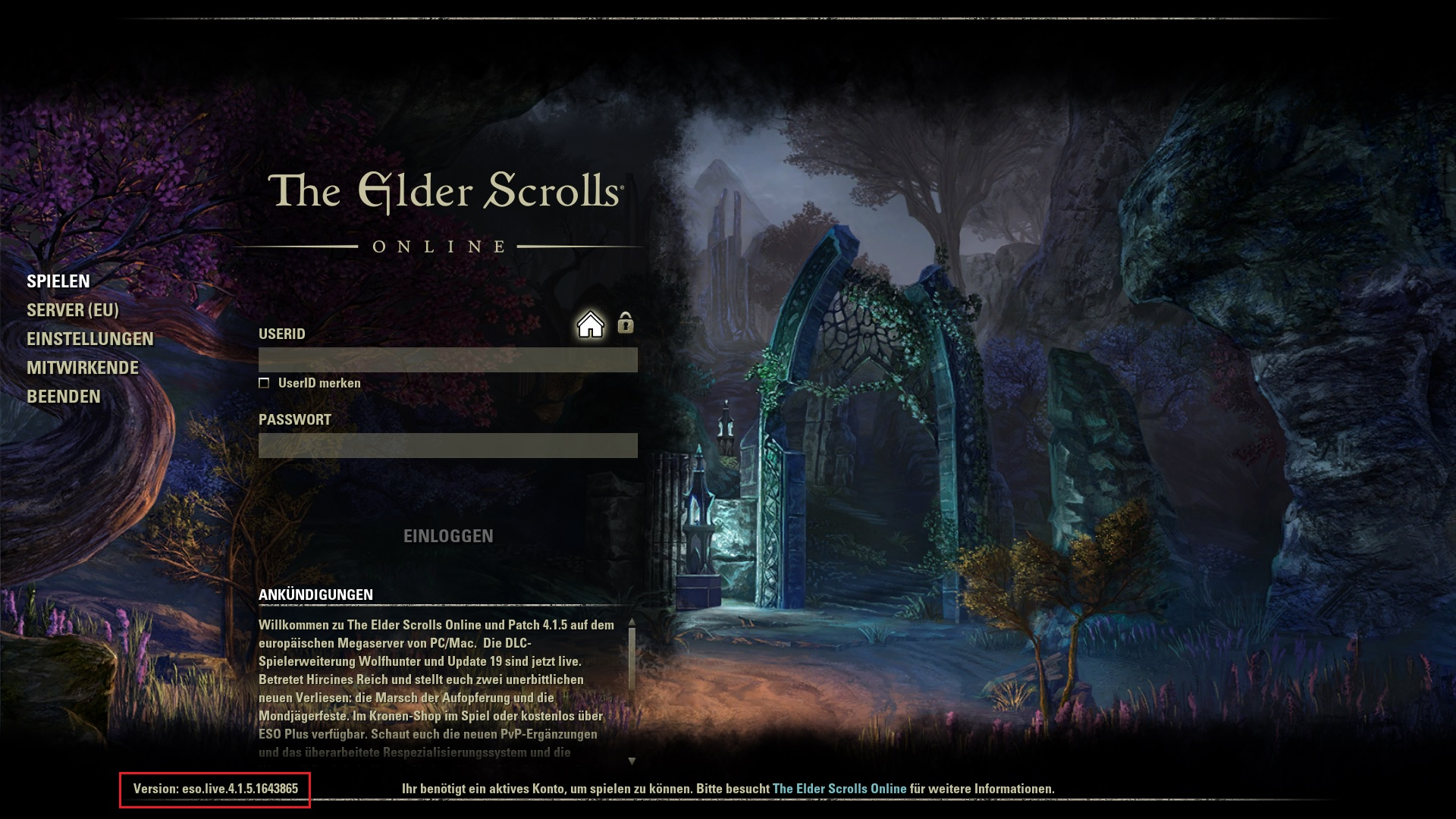 The Elder Scrolls Online - Game-Request | VulnDetect - An upcoming